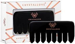 Voňavky, Parfémy, kozmetika Masážny hrebeň na pokožku hlavy, obsidián - Crystallove