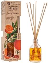 "Voňavky, Parfémy, kozmetika Aromatický difúzor ""Pomaranč a škorica - La Casa de los Aromas Mikado Botanical Reed Diffuser Cinnamon Orange"