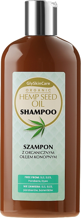 Šampón s organickým konopným olejom - GlySkinCare Organic Hemp Seed Oil Shampoo — Obrázky N1