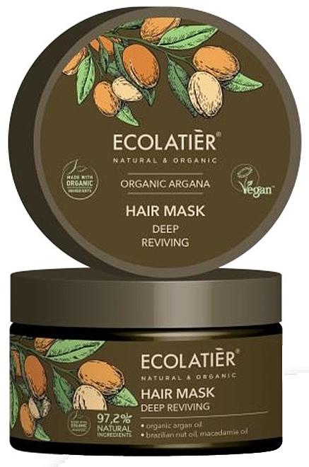 "Maska na vlasy ""Hĺbková regenerácia"" - Ecolatier Organic Argana Hair Mask"