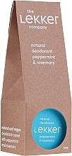 Voňavky, Parfémy, kozmetika Krémový dezodorant s mätou a rozmarínom - The Lekker Company Natural Deodorant