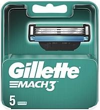 Voňavky, Parfémy, kozmetika Vymeniteľné kazety na holenie, 5 ks - Gillette Mach3