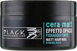 Voňavky, Parfémy, kozmetika Vosk s matným efektom - Black Professional Line Cera Matt Effetto Opaco