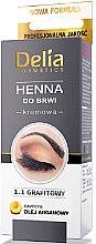 Voňavky, Parfémy, kozmetika Krém-farba prášok na obočie, grafit - Delia Brow Dye Graphite Henna Cream