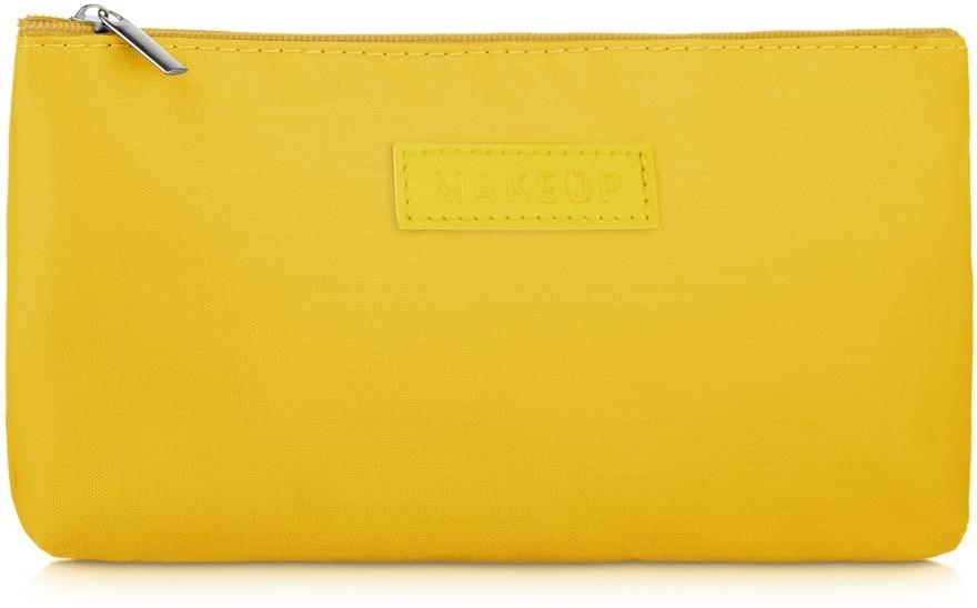 """Kozmetická taška plochá, žltá """"Girl's Travel"""" - MakeUp"""