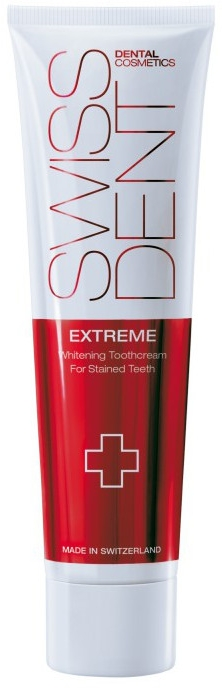 Bieliaca zubná pasta - SWISSDENT Extreme Whitening Toothcream for Stained Teeth — Obrázky N1