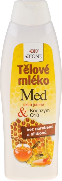 Mlieko pre telo - Bione Cosmetics Honey + Q10 Regenerative Body With Vitamin E Lotion