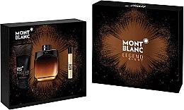 Voňavky, Parfémy, kozmetika Montblanc Legend Night - Sada (edp/100ml + edp/7.5ml + ash/balm/100ml)
