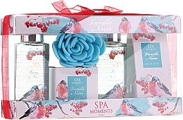 Voňavky, Parfémy, kozmetika Sada - Spa Moments Vanille Noire (sh/gel/100ml+sh/gel/100ml+salf/50+soap/50g+sh/sponge)