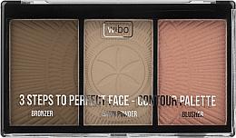 Voňavky, Parfémy, kozmetika Paleta na kontúrovanie - Wibo 3 Steps To Perfect Face Contour Palette New Edition