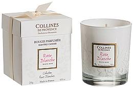 Voňavky, Parfémy, kozmetika Vonná sviečka, white rose - Collines De Provence White Rose