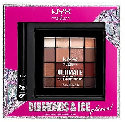 Sada - NYX Professional Makeup Diamonds & Ice Please Shadow & Liner Set (sh/palette/16x1.18g + liner/2ml)