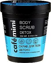 """Voňavky, Parfémy, kozmetika Scrub na telo """"Detox. Morská soľ a svetlomodrá hlina"""" - Cafe Mimi Body Scrub Detox"""