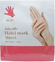 Voňavky, Parfémy, kozmetika Látková maska na ruky - Holika Holika Baby Silky Hand Mask Sheet