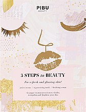"Voňavky, Parfémy, kozmetika Maska na tvár ""3 kroky ku kráse"" - Pibu Beauty 3 Steps To Beauty Mask"