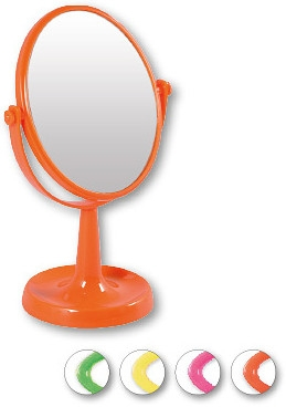 """Kozmetické zrkadlo, 85741 """"Lusterko Stoj№ce Owalne"""", oranžové - Top Choice — Obrázky N1"""