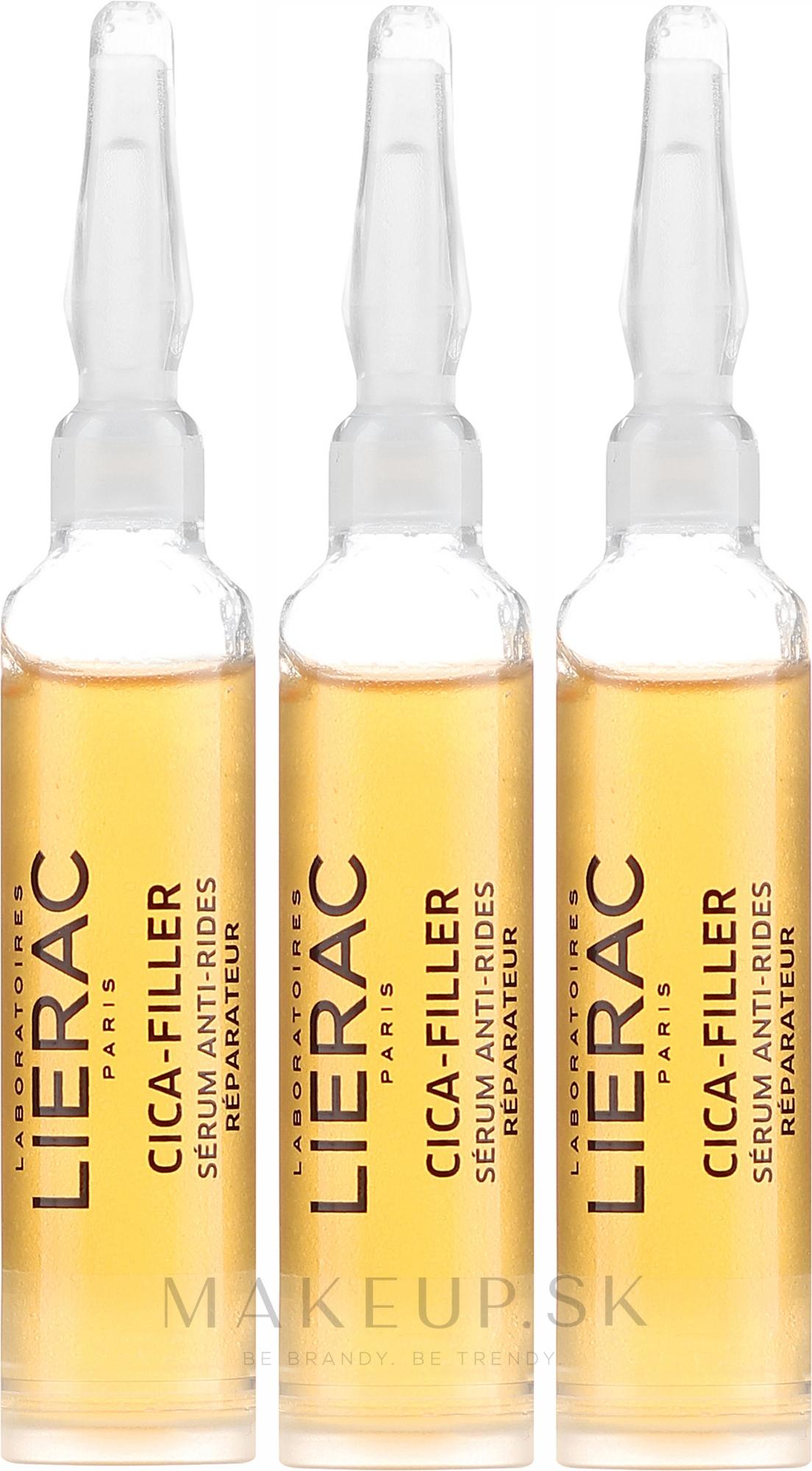 Anti-aging sérum na tvár - Lierac Cica-Filler Anti-Wrinkle Repairing Serum — Obrázky 3 x 10 ml