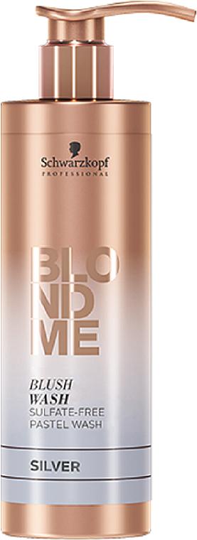 Hydratačný šampón bez obsahu síranu strieborný - Schwarzkopf Professional Blond Me Blush Wash Silver