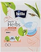 Voňavky, Parfémy, kozmetika Vložky Panty Herbs Sensetive Plantago, 60 ks - Bella