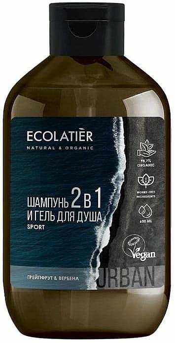 Pánsky sprchový gél a šampón 2 v 1 - Ecolatier Urban Sport