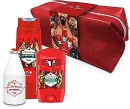 Voňavky, Parfémy, kozmetika Sada - Old Spice Bearglove Travel (deo/50g + sh/gel/250ml + ash/lot/100ml + bag)