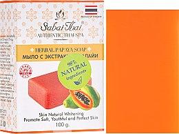 Voňavky, Parfémy, kozmetika Mydlo s extraktom z papáje - Sabai Thai Herbal Papaya Soap
