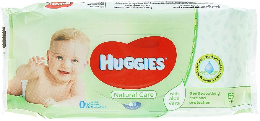 Detské vlhčené obrúsky Natural Care, 56 ks - Huggies