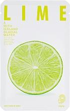 """Voňavky, Parfémy, kozmetika Textilná maska pre žiarivosť pokožky tváre """"Limetka"""" - The Iceland Lime Mask"""
