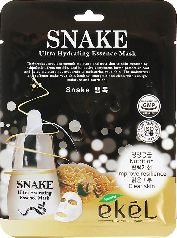 """Textilná maska """"Botoxový efekt"""" - Ekel Snake Ultra Hydrating Essence Mask"""