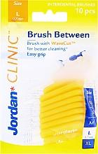 Voňavky, Parfémy, kozmetika Medzizubné kefy L 0,7 mm, 10 ks, žlté - Jordan Brush Between