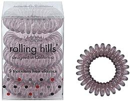 Voňavky, Parfémy, kozmetika Gumička-náramok do vlasov, hnedá - Rolling Hills 5 Traceless Hair Rings Transparent Brown