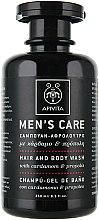 Voňavky, Parfémy, kozmetika Prostriedok na umývanie vlasov a tela s kardamónom a propolisom - Apivita Men Men's Care Hair and Body Wash With Cardamom & Propolis