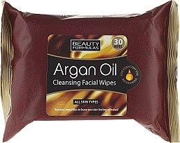 Voňavky, Parfémy, kozmetika Utierky na tvár, čistenie - Beauty Formulas Argan Oil Cleansing Facial Wipes