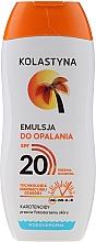 Voňavky, Parfémy, kozmetika Vodeodolná emulzia pre opaľovanie - Kolastyna Suncare Emulsion SPF20