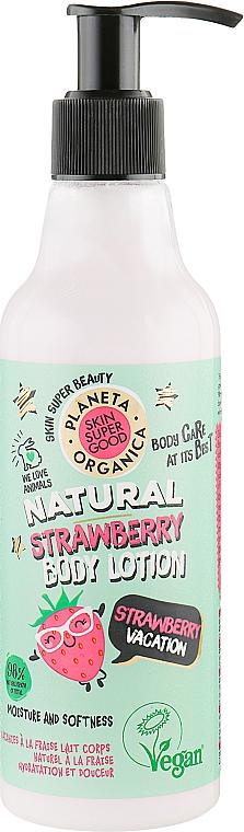 "Lotion na telo ""Jahodová dovolenka"" - Planeta Organica Natural Body Lotion Strawberry Vacation"