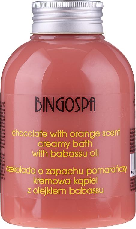 Krémová krémová kúpeľ s čokoládovým a pomarančovým extraktom - BingoSpa