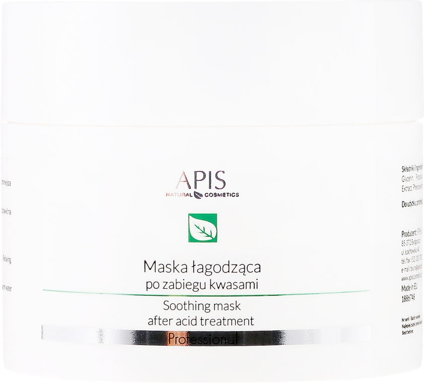 Maska na tvár - APIS Professional Exfoliation Soothing Mask After Acid Treatment