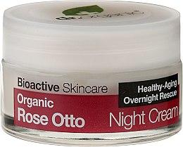 """Voňavky, Parfémy, kozmetika Krém na tvár, nočný """"Ruža"""" - Dr. Organic Rose Night Cream"""