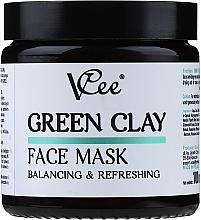 Voňavky, Parfémy, kozmetika Maska na tvár so zelenou hlinou - VCee Green Clay Face Mask Balancing&Refreshing