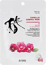 Voňavky, Parfémy, kozmetika Textilná maska na tvár s kaméliou - Mitomo Camellia Essence Mask