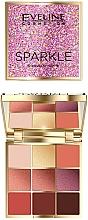Voňavky, Parfémy, kozmetika Paleta očných tieňov - Eveline Cosmetics Sparkle