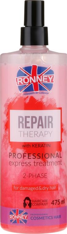 Dvojfázová hmla pre poškodené a suché vlasy - Ronney Repair Therapy Professional Express Treatment 2-Phase