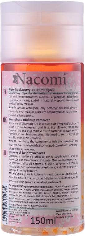 Dvojfázový odstraňovač make-upu - Nacomi Two Phase Oil Double Effect — Obrázky N2