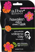 Voňavky, Parfémy, kozmetika Čierna textilná maska - Alba Botanica Hawaiian Detox Sheet Mask Anti-pollution Volcanic Clay