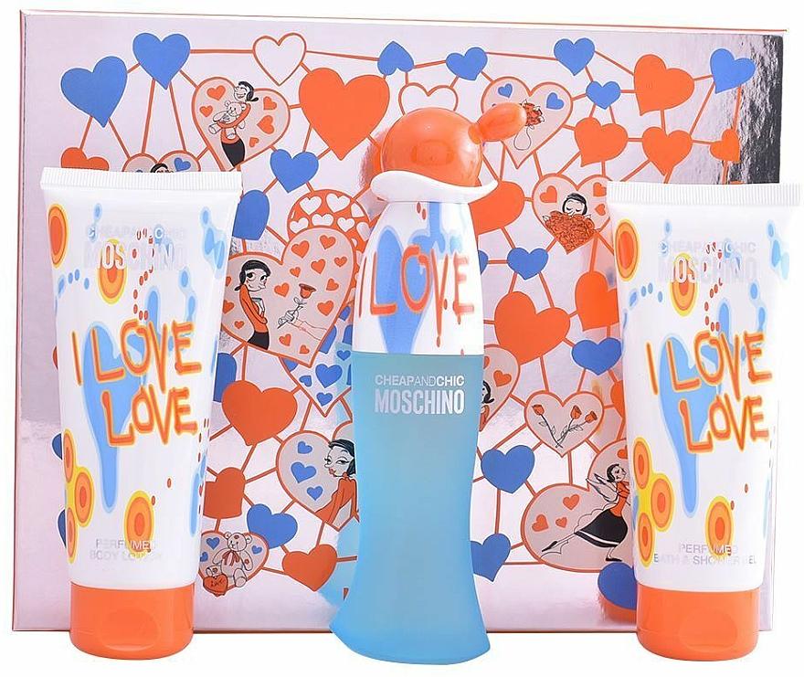 Moschino I Love Love - Sada (edt/50ml+b/lot/100ml+sh/gel/100ml)