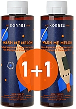 Voňavky, Parfémy, kozmetika Sada - Korres Wash Me Melon Kids (sh/gel/2x250ml)