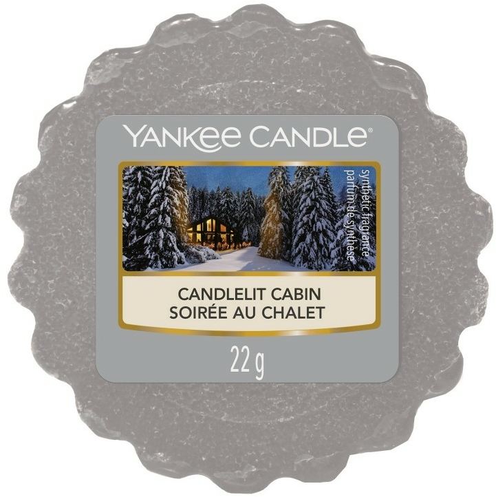 Aromatický vosk - Yankee Candle Candlelit Cabin — Obrázky N1