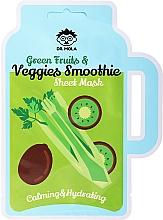 Voňavky, Parfémy, kozmetika Textilná maska na tvár - Dr. Mola Green Fruits & Veggies Smoothie Sheet Mask