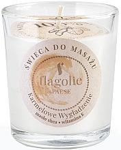 """Voňavky, Parfémy, kozmetika Masážna sviečka v pohári """"Vyhladzujúci karamel"""" - Flagolie Caramel Smoothing Massage Candle"""