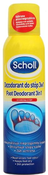 Deodorant-antiperspirant na nohy - Scholl 3in1 Antiperspirant